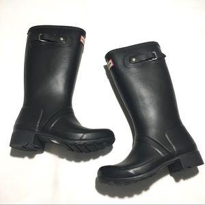 Hunter Black Kids Boots size 2